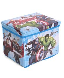 Marvel Avengers Wooden Toy Storage Box - Blue