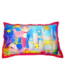 Swayam Pillow Cover Mermaid Print - Multicolour