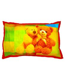 Swayam Pillow Cover Teddy Print - Yellow