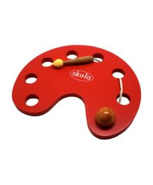 Skola Toys Wooden Threading Palette - Red
