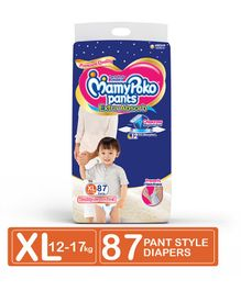 MamyPoko Extra Absorb Pant Style Diaper Monthly Jumbo PokoChan Anniversary Pack Extra Large Size - 87 Pieces