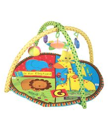 Mee Mee Versatile Baby Play Gym Mat Animal Print - Blue Multi Colour
