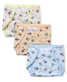 Tinycare Waterproof Nappy Large - Set of 3 (Color May Vary)