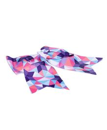 Golden Peacock Bow-Shaped Printed Alligator Hair Clip - Pink