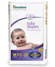 Himalaya Herbal Baby Diapers Medium - 28 Pieces