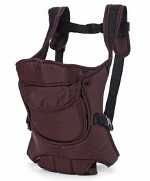 Baby 4 Way Carrier With Front Pocket - Brown