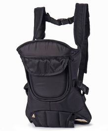 Baby 4 Way Carrier With Front Pocket - Black