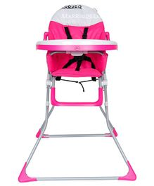 1st Step Flexi High Chair With 5 Point Safety Harness And Anti Skid Base - Pink