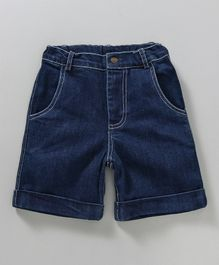 Nino Bambino Causal Denim Shorts - Navy