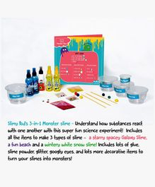 PodSquad 3 in 1 Monster Slime Activity Kit - Multi Color