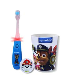 aquawhite Paw Patrol Flashhh Toothbrush Set Blue & White - 3 Pieces