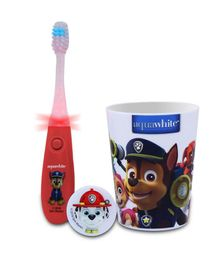 aquawhite Paw Patrol Flashhh Toothbrush Set Red & White - 3 Pieces