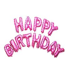 Shopperskart Happy Birthday Foil Balloons Pink - 13 Letters
