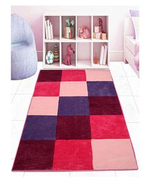 Saral Home Microfibre Square Design - Pink