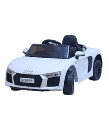HappyKids Battery Operated Ride on Car - White