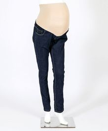 Kriti Full Length Maternity Jeans With Tummy Hug - Blue
