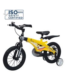 R for Rabbit Tiny Toes Jazz Plug N Play Bicycle Yellow - 14 inches