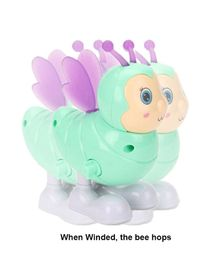 Vibgyor Vibes Jumping Bee Wind Up Toy (Colors May Vary)