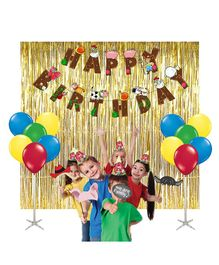Party Propz Birthday Decoration Set Farm House Theme Multi Color - 38 plus pieces