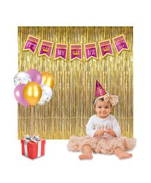 Party Propz Half Birthday Decorations Combo Pack Magenta - 30 pieces