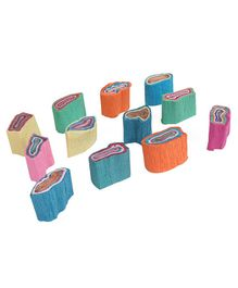 B Vishal Crepe Paper Rolls Pack of 12 - Multicolor