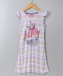Ventra Happy Princes Print Night Dress - Pink