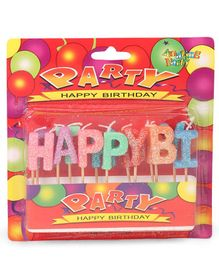 B Vishal Happy Birthday Alphabet Shape Candles - 13 Pieces (Color May Vary)