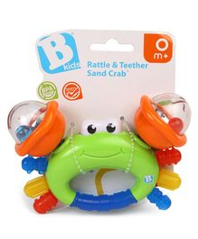 BKids Sand Crab Rattle Cum Teether - Color May Vary