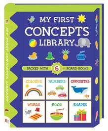 My First Concepts Library Pack of 6 Board Books - English