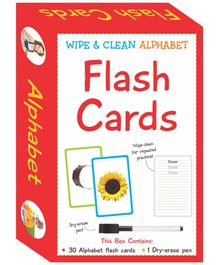 Art Factory Wipe & Clean Flash Cards Alphabets Theme Multi Color - Pack of 30