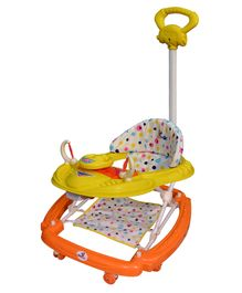 Sunbaby Rocker Cum Walker With Parent Push Handle - Yellow