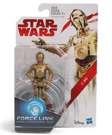 Star Wars Force Link C3PO Action Figure Golden - Height 9.5 cm