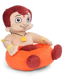 Chhota Bheem Shaped Sofa Seat - Orange