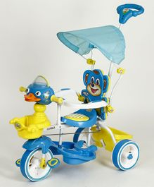 Dash Musical Tricycle With Canopy & Parental Handle - Blue