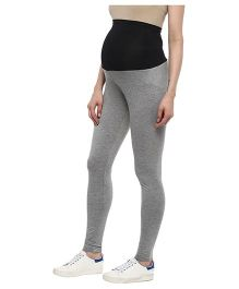 Momsoon Maternity Full Length Leggings - Grey