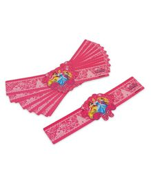 Disney Princess Wrist Band Pack of 10 - Pink