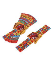 Marvel The Amazing Spiderman Wrist Band Pack of 10 - Multicolour