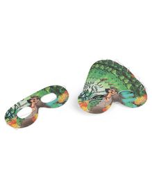 Jungle Book Printed Eye Masks Pack of 10 - Green