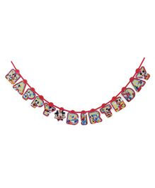 Disney Happy Birthday Banner Mickey Mouse Print - Multicolour
