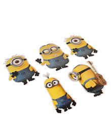 Minions Cut Out Pack of 5 - Yellow & Blue