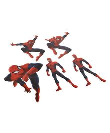 Marvel The Amazing Spiderman Cut Out Pack of 5 - Red & Blue