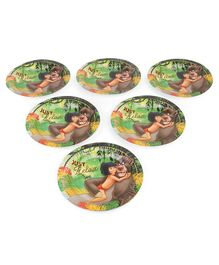 Jungle Book Paper Plates Pack of 6 - Multicolour