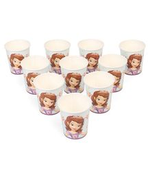 Disney Sofia The First Paper Cups Multicolour Pack of 10 - 200 ml each