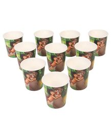 Jungle Book Paper Cups Multicolour Pack of 10 - 200 ml each