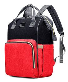 R for Rabbit Caramello Backpack Style Diaper Bag - Red Black