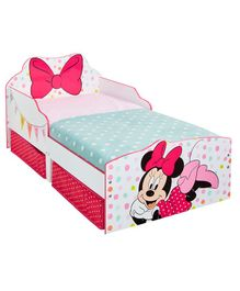 Disney Minnie Toddler Bed & Storage - Pink
