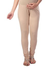 Kriti Knit Churidar With Tummy Hug - Beige