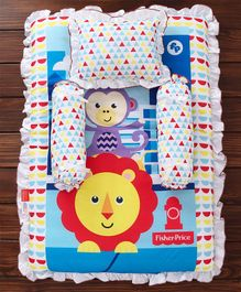 Fisher Price Mattress Set Monkey & Lion Print Multi Colour - 4 Pieces