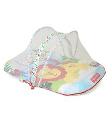 Fisher Price Mattress With Mosquito Net And 1 Pillow Lion Print - Multicolor