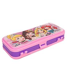 Disney Princess Double Sided Pencil Box - Pink & Purple